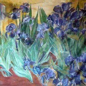 Vincent Van Gogh - 'Irises' - replica