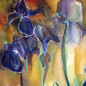 Detail - Vincent Van Gogh - 'Irises' - replica